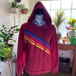 * Hoodie Rainbow Retro Sweater LOVE * Long Sleeve
